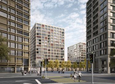 Europaallee baufeld f z rich bob gysin partner bgp - Bob gysin partner bgp architekten ...