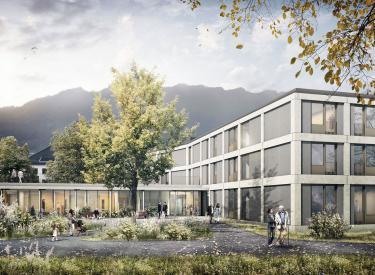 Alters und pflegeheim letz n fels bob gysin partner bgp - Bob gysin partner bgp architekten ...